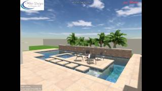 Water Designs Of Sarasota Modern Home With Island Spa, Firepit Landing And Water Feature Entryway