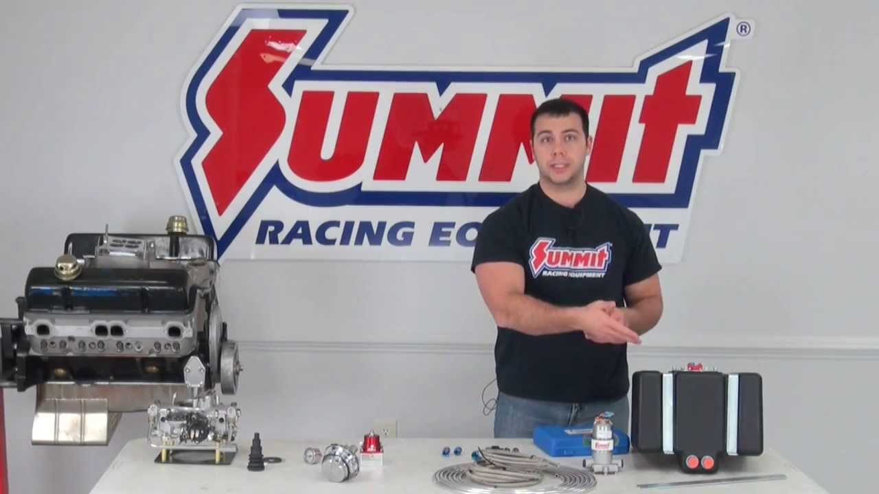 Fuel System Design - Summit Racing Quick Flicks - YouTube on backup lights wiring diagram, automatic choke wiring diagram, electric fuel pumps for carbureted engines, ford f-350 super duty wiring diagram, fuel gauge wiring diagram, fuel pump relay diagram, electric clock wiring diagram, thermostat wiring diagram, fan relay wiring diagram, holley fuel pump diagram, electric fan wiring diagram, electric antenna wiring diagram, gm fuel pump connector diagram, fuel pump circuit diagram, 1998 buick lesabre fuel pump diagram, fuel injector wiring diagram, 91 ford ranger fuel pump diagram, throttle body wiring diagram, international 8100 fuel diagram, fuel system wiring diagram,