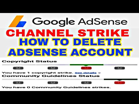 How toDelete Adsense Account | Delete youtube strike channel | #tamilicon
