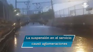 El Metro informó que la estación La Raza de la Línea 5 permanece cerrada por filtración de agua a sus instalaciones