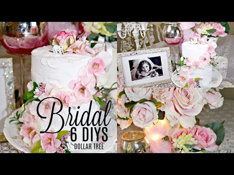 💖6 DIYS DOLLAR TREE GLAM CHIC BRIDAL DECOR 💖 Olivia's Romantic Home