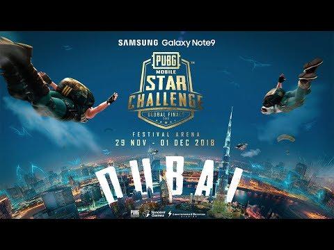 🔴NOBAR FINAL PMSC Day 1 DUBAI Galaxy Note9 PUBG MOBILE STAR CHALLENGE - Global Finals