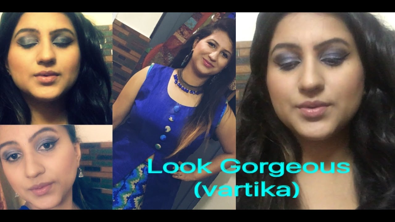 76819f08ec5 GRWM  Indian Wedding Guest Makeup Tutorial  Makeup for Blue Dress ...