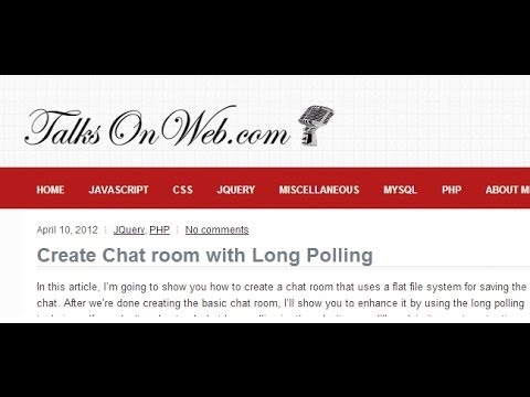 Create Chat room in PHP (Long Polling) - Part 1
