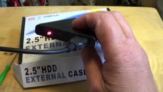 2 5` inch external sata hard drive enclosure USB review