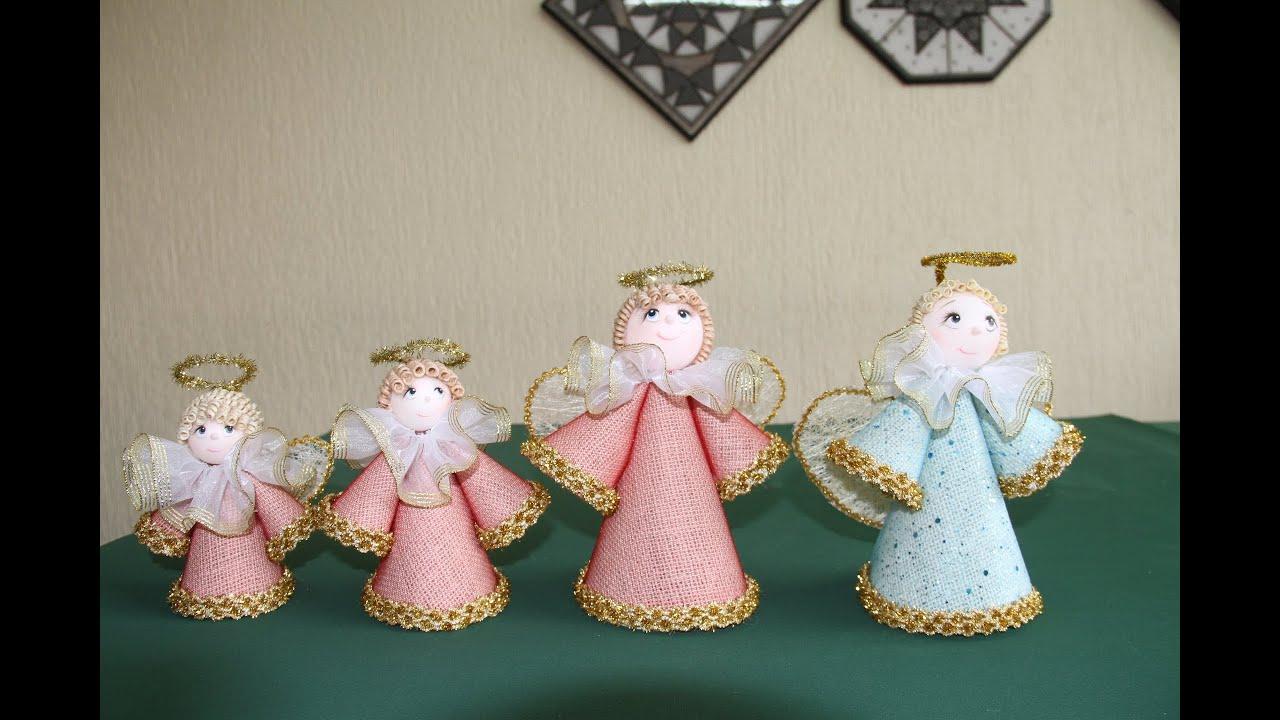 C mo hacer unos ngeles decorativos youtube - Crear christmas de navidad ...