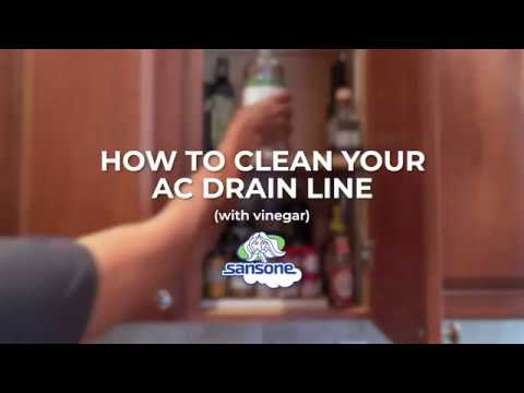 clean ac drain line bleach vs vinegar