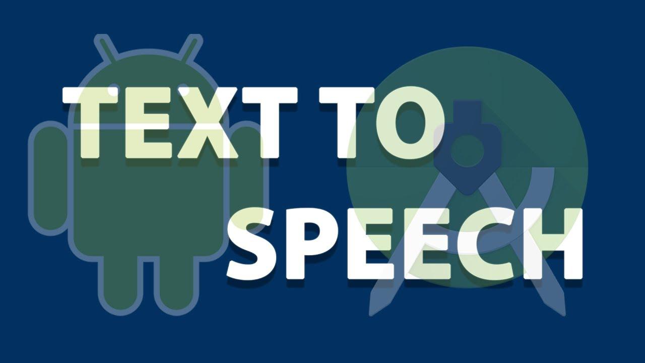 Text To Speech Tutorial Android Studio
