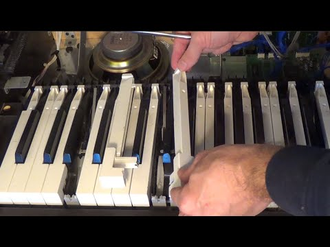 How To Remove And Clean Piano Keys In A Yamaha Clavinova