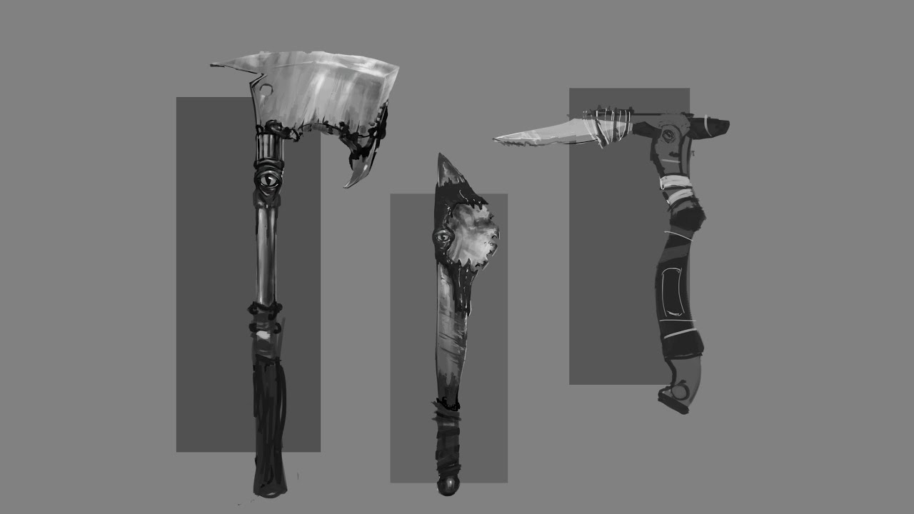 Melee Weapon Concept Art