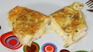 Omelete com Pão e Mussarela Super Cremoso
