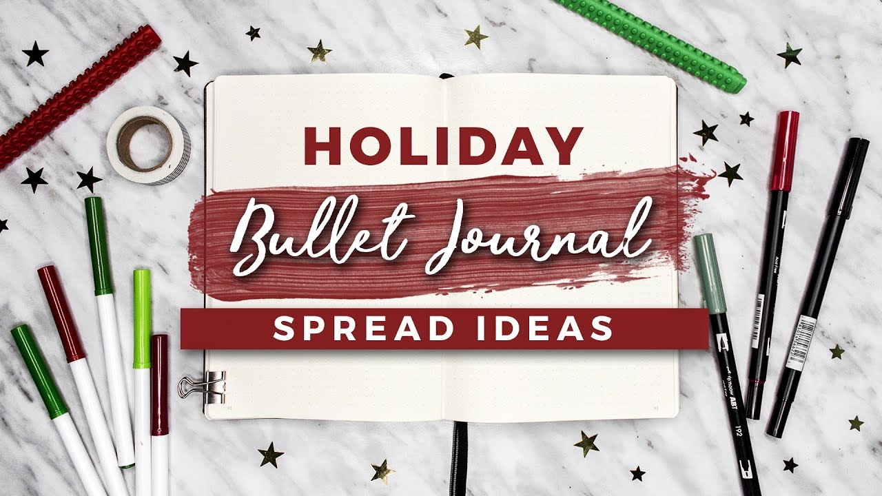 Christmas Gift Guide Layout.Holiday Bullet Journal Ideas Christmas Spreads