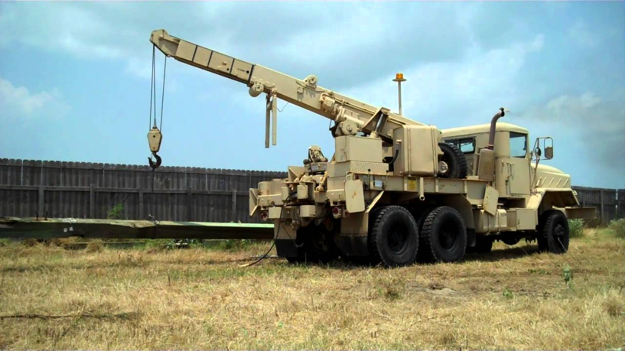 Tow Truck Houston >> 1984 AM GENERAL M-936 MILITARY CRANE / WRECKER TRUCK - YouTube