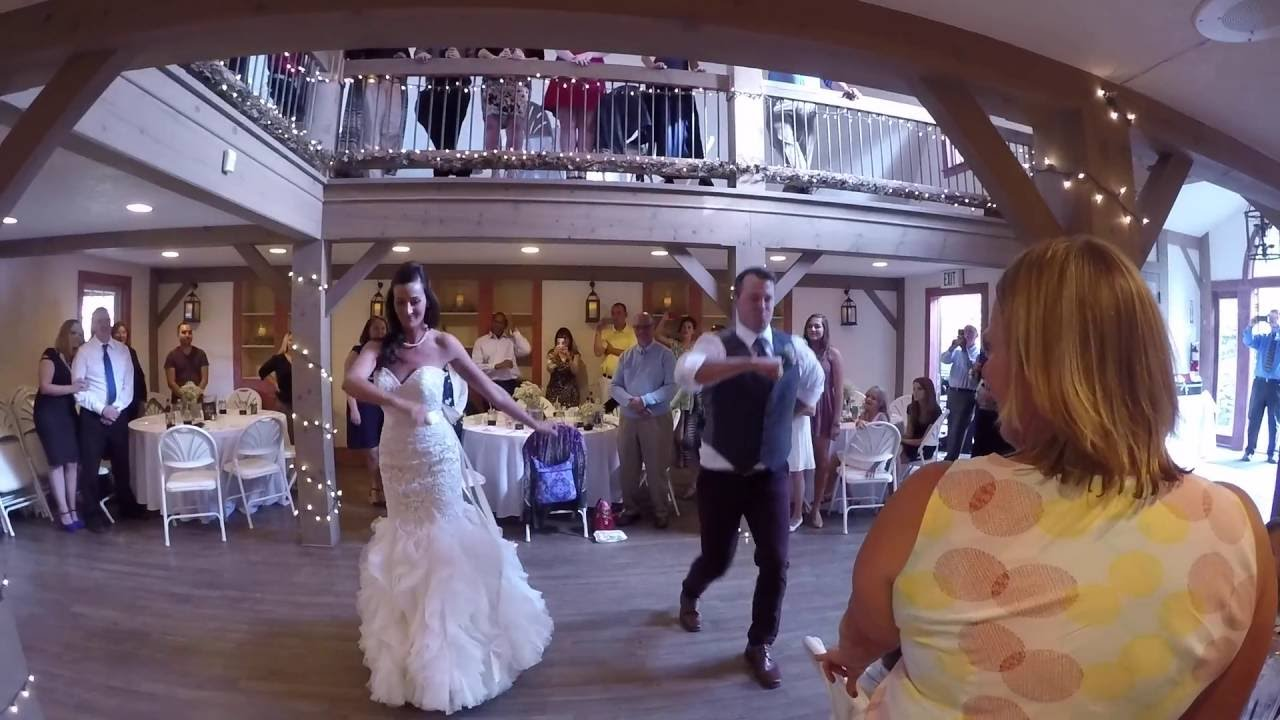 Epic wedding dance with 250 guests