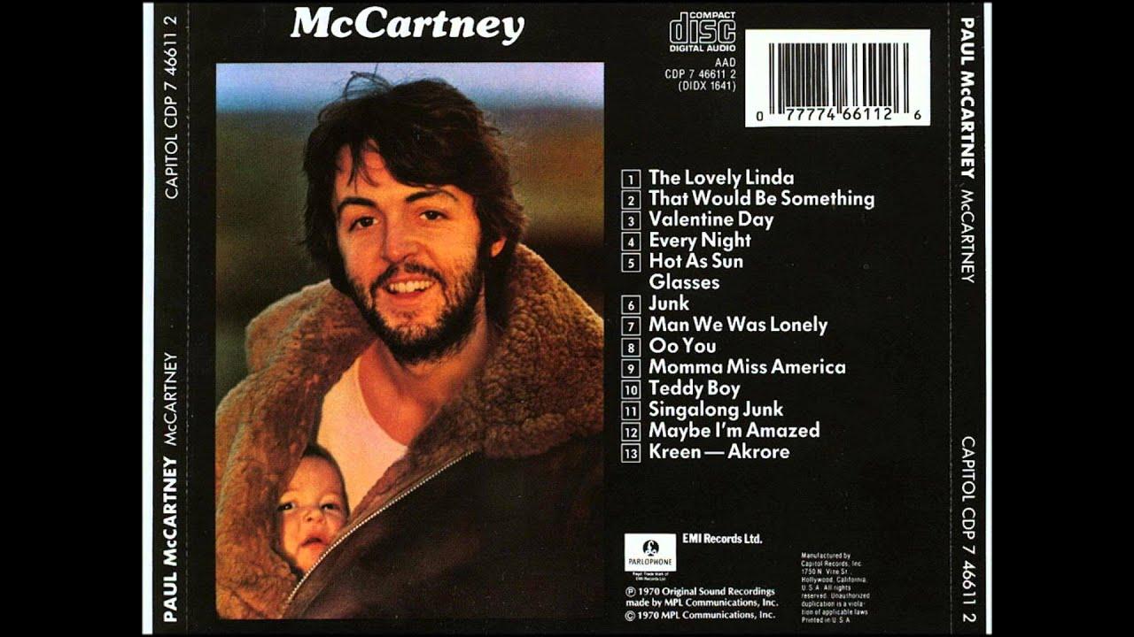 Momma Miss America Paul Mccartney Youtube