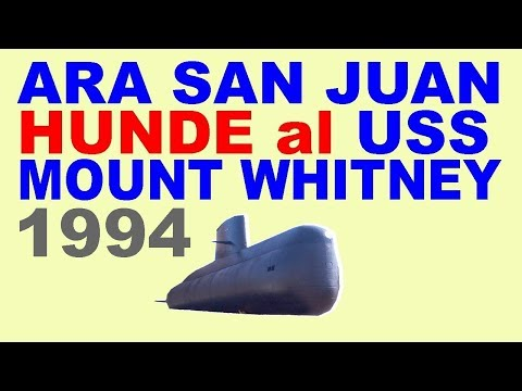 ARA San Juan hunde USS Mount Whitney (en 1994)