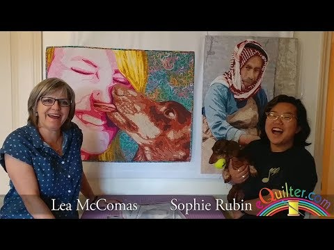 Sophie Rubin interviews Lea McComas on her upcoming Thread Painting and Applique Portraits workshops