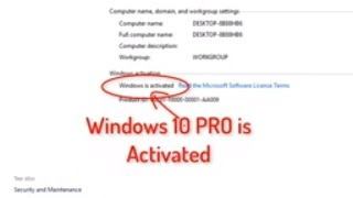 Activate Windows 10 Pro Free 2019 I Command Prompt only