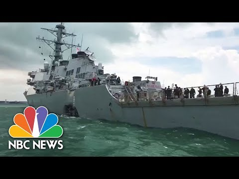 Sailors Missing, Injured After U.S. Warship Collides With Tanker. See the Details.