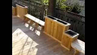 Wood deck design Doheny by Patios et Cl tures Beaulieu, Pointe-Claire, West Island, Montreal