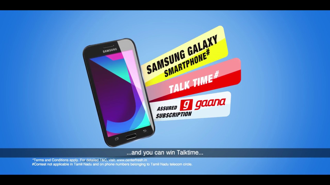 Center fresh | SMS & Win Smartphone Every Hour