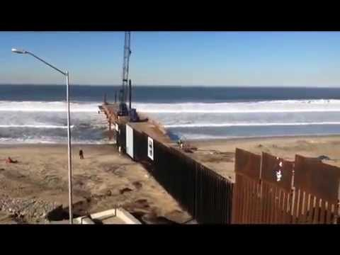 Tijuana Beach at the International Border
