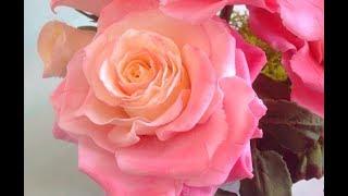 как сделать большую розу из мастики