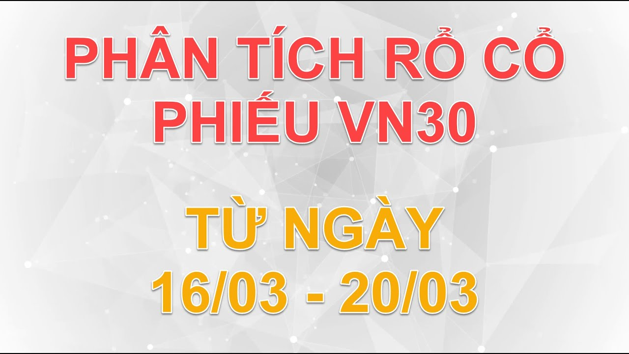 Phân tích rổ cổ phiếu VN30 từ ngày 16/03 đến 20/03 | Lương Tuấn