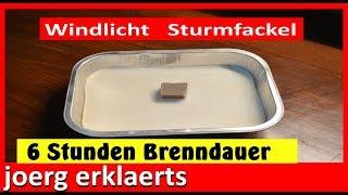 Windlicht / Sturmfackel  6 Stunden Brenndauer aus Wachs Vol.13