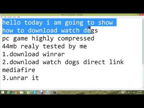 How To Download Watch Dogs Highly Compressed 44mb HD - YouTube