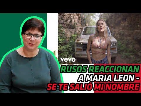 RUSOS REACCIONAN A MARIA LEÓN - SE TE SALIÓ MI NOMBRE Ft. Mariachi Vargas | REACCIÓN