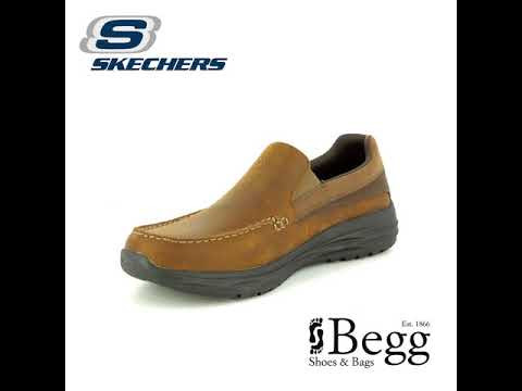 99d8a3b9496 Skechers Harsen Ortego 65620 CDB Brown casual shoes - YouTube