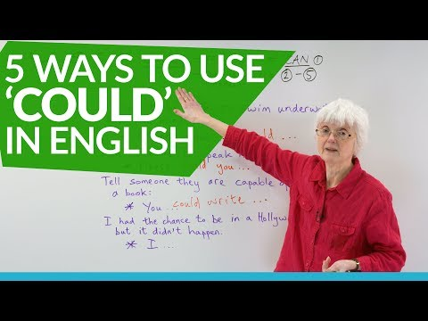 English Grammar: How to use the auxiliary verb 'COULD'