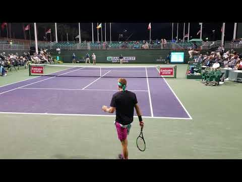 Sandgren getting annoyed with announcer during match against Mannarino - Indian Wells 2019