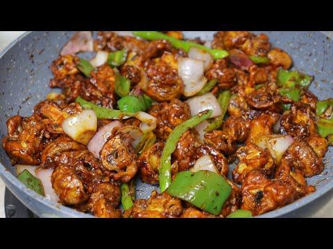 chilli mushroom recipe restaurant style chilli mushroom