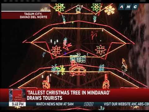 'Tallest Christmas tree in Mindanao' draws tourists