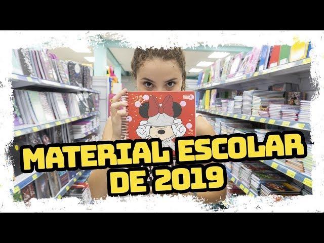 MEU MATERIAL ESCOLAR 2019 - Raissa Chaddad