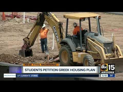 Students petition Arizona State University's new Greek housing project