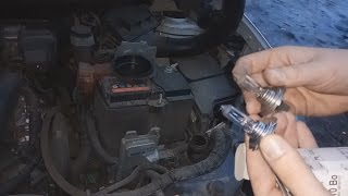 замена лампочек ближнего света на Nissan Qashqai J10