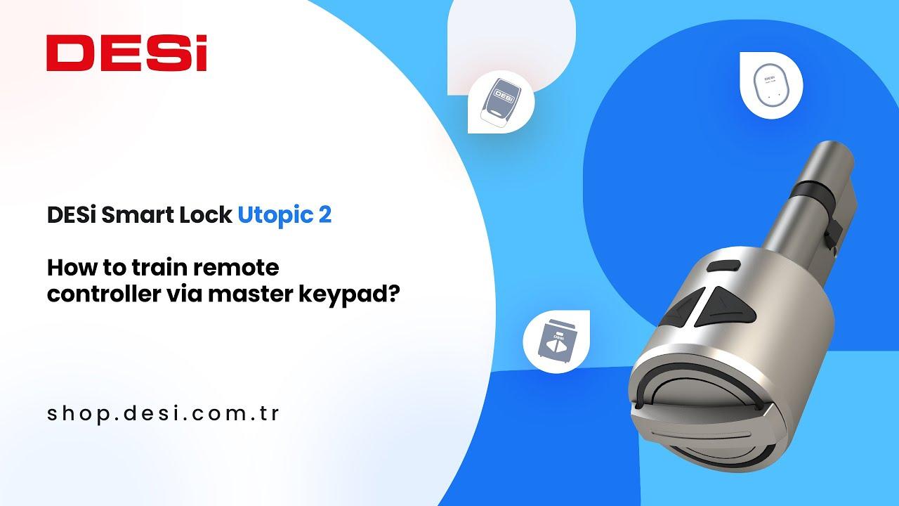 DESi Smart Lock Utopic 2 - How to train remote controller via master keypad