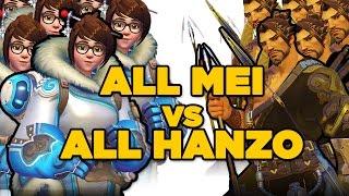 All Mei Vs. All Hanzo Match - Overwatch Gameplay