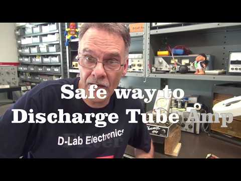 How to safely discharge tube guitar amp Filter capacitors D-Lab Tech Tip