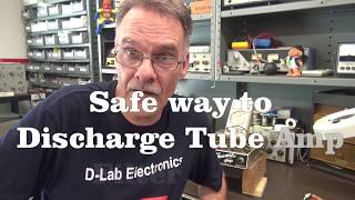 How to safely discнarge tube guitar amp Filter capacitors D-Lab Tech Tip