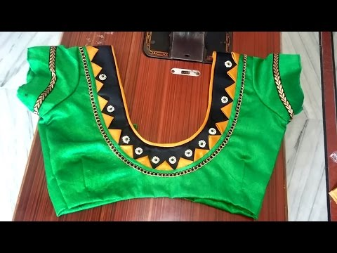 Easy Blouse Cutting And Stitching With Back Patch Designs Youtube