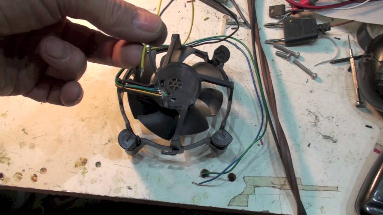 How to make the 4 wire cpu cooling fan work  YouTube
