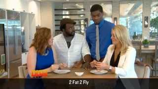 We Try Some Wings With The Guys From '2 Fat 2 Fly'