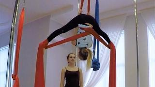 видео Что такое воздушная гимнастика? А танцы на полотнах?