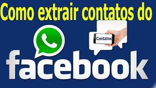Como extrair contatos no Facebook de uma região especifica