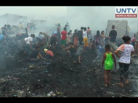 Fire engulfs slum area in Navotas, leaves 1,200 families homeless