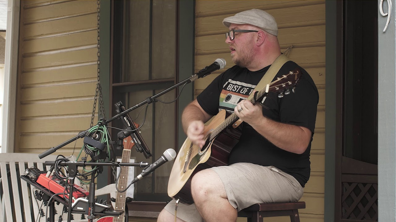 """Brent Terwilliger Performing """"Call Me Over"""" (original) at Sanford's 3rd Annual Porchfest"""
